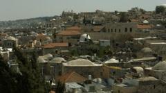 4K+HD Skyline of old city Jerusalem Stock Footage