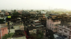 Pigieons fly in the morning over Calcutta. HD 1920 by 1080. - stock footage