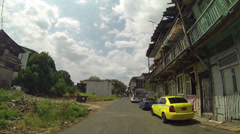 View of a shanty town neighborhood on circa 2014 in Panama. Stock Footage