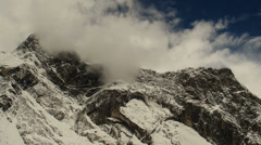 Epic Mountains – Snowy Mountains Over Clouds Stock Footage