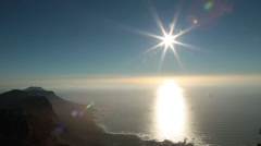 SUN FLARE CAPE TOWN Stock Footage