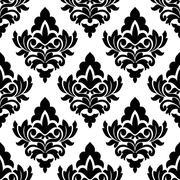 Bold damask style seamless pattern Stock Illustration