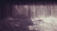 abstract background with flowing water with retro filter effect - stock footage