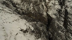 Snowy Mountains. Aerial View: Annapurna conservation area, Nepal. - stock footage