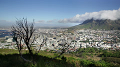 Cape Town city view from Signal hill Stock Footage
