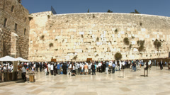 4K+HD Jews pray at the Western Wall during passover holiday Stock Footage