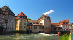 "Strasbourg. District ""little France"" Frantsiya.Evropa. Stock Footage"