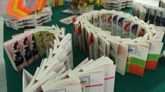 Book fair in Asia Stock Footage