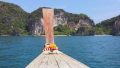 Tropical islands, cliffs and mountains near Phuket, Thailand. Travel destination Stock Footage