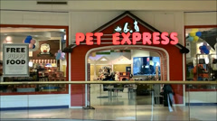 Pet store shopping mall - stock footage