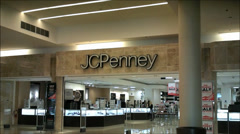 JC Penney mall storefront Stock Footage