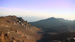 HD Haleakala National Park Crater, Maui Hawaii Stock Footage