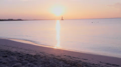 Hd golden hour at turks and caicos beach Stock Footage