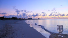 Hd  dolly shot - post sunset turks & caicos Stock Footage