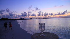 Hd - chic dolly shot - post sunset turks & caicos Stock Footage