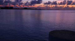 Hd dolly shot - vivid purple  sunset -turks & caicos Stock Footage