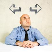 Stock Photo of Business choice or making decision