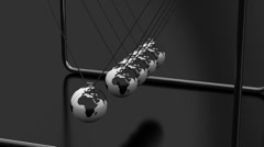 Animated Newton's Cradle - stock footage