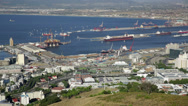 Stock Video Footage of Cape Town South Africa port