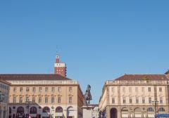 Piazza San Carlo Turin - stock photo