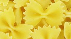 Bow tie pasta. Stock Footage