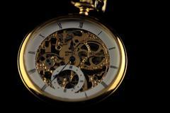 Old watch machine - stock photo