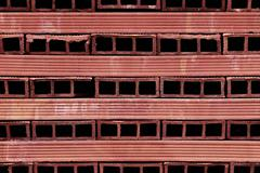 perforated terracotta bricks - stock photo