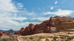 HD Valley of Fire Time Lapse Red Rocks Stock Footage