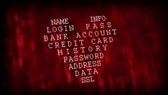 Heartbleed bug. Cracked Password and internet security issue concept. Stock Footage