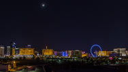 Stock Video Footage of Awesome Pan of Vegas Skyline HD