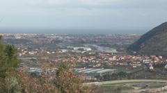 Panoramic view of Albenga Stock Footage