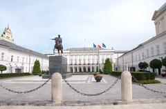 presidential palace in warsaw, poland - stock photo