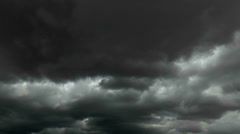 Fast Moving Black White Storm Clouds Time Lapse Stock Footage