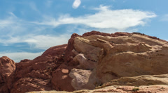 Red Rocks in Valley of Fire HD Stock Footage