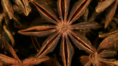 Organic anise stars background Stock Footage