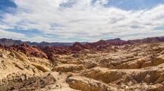 Rocky American Landscape in Valley of Fire HD Stock Footage