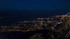 Palm Springs City Aerial Time Lapse HD Stock Footage