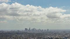 Downtown LA Cloudy Time Lapse HD Stock Footage