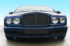 Prestige of car frontal Stock Photos