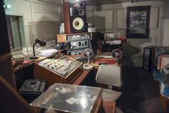 Vintage radio studio Stock Photos
