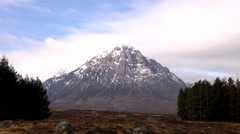 BUACHAILLE ETIVE MOR, PASS OF GLEN COE, SCOTLAND #1 Stock Footage