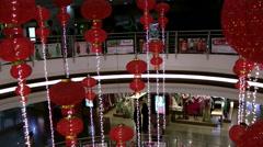 India Federal State of Karnataka City of Mangalore 007 mall atrium lanterns Stock Footage