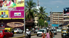 India Federal State of Karnataka City of Mangalore  009 traffic on main street Stock Footage