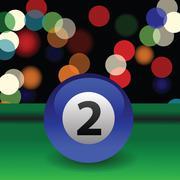 Billiard ball Stock Illustration
