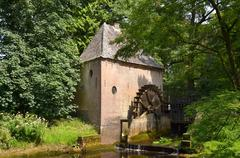 Water mill at castle Hackfort. - stock photo