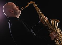 Stock Photo of saxophonist