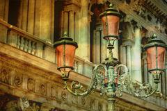 Vintage chandeliers Stock Illustration