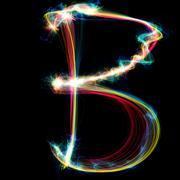 Stock Illustration of plasma letter - b