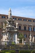 Detail of  Normans' Royal Palace in Palermo - stock photo