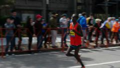 Paul Lonyangata Boston Marathon Runner Stock Footage